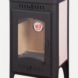 Печь-камин Бавария-Оптима с чугунной плитой