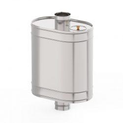 Бак на трубе овальный 50 л  d 115 нерж 0,8 мм AISI 439 (УМК)