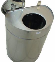 Бак 60 л для теплообменника вертикальный нерж 0,8 мм AISI 439 (УМК)