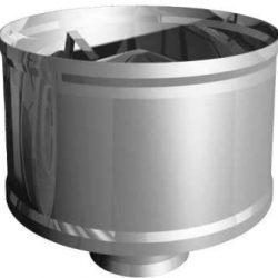 Зонт  80 с ветрозащитой (дефлектор) AISI 439 (УМК)