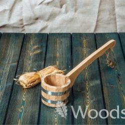 Черпак 0,5 л без вставки из древесины дуба