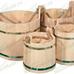 Деревянное ведро 10 литров из кедра