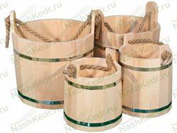 Ведро 20 литров из древесины кедра