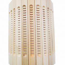 Абажур для светильника, настенный, прорезной МА-2, липа