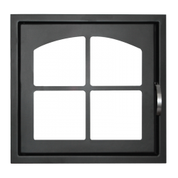 Дверь каминная ДК 555 1К стальная (Мета)