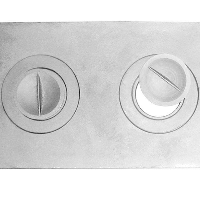 Плита П2-1 двухконфорочная (585*340 мм)