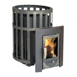 Печь банная Берёзка Викинг 15 (чугунная дверца со стеклом)