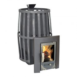 Печь банная Берёзка Витязь 18 (чугунная дверца со стеклом)