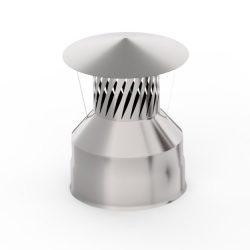 Оголовок с искрогасителем 140/200 нерж/нерж 0,5/0,5 мм  AISI 439 (УМК)