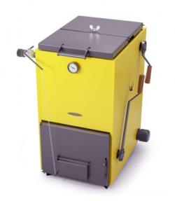 Котел твердотопливный ТМФ Цельсий Автоматик 16 кВт (АРТ под ТЭН желтый)