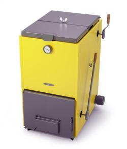 Котел твердотопливный ТМФ Цельсий Электро 20 кВт (АРТ ТЭН 6 кВт желтый)